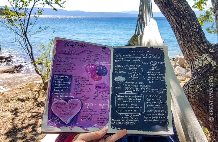 Bilježnica na plaži
