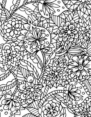 Alisa Burke besplatna bojanka s cvijetnim ornamentima