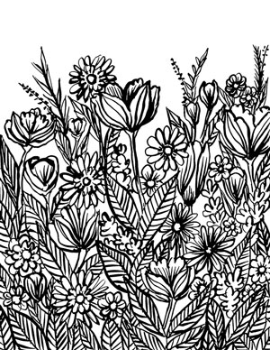 Alisa Burke besplatna bojanka s cvijećem