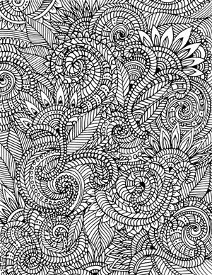 Alisa Burke besplatna bojanka s ornamentima