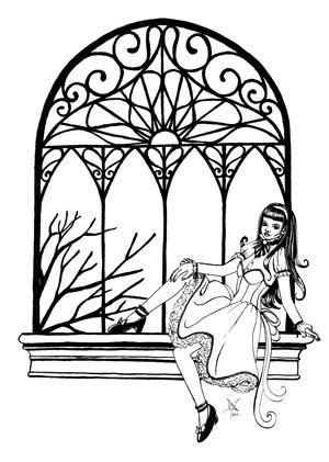 Bojanka Djevojka na prozoru