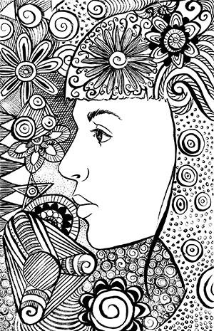 Bojanka Portret s mandalom