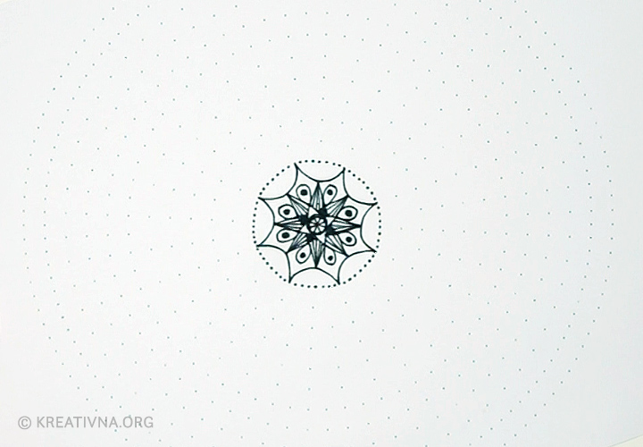 Radionica crtanja mandala: točkasta linija