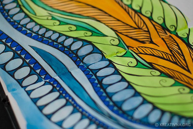 Crtkanje s tušem i vodenim bojama