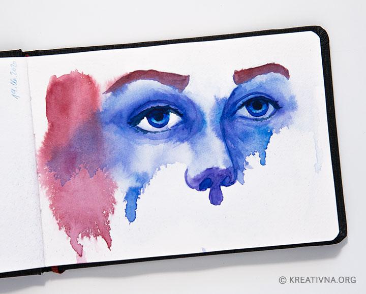 Oči, akvarel