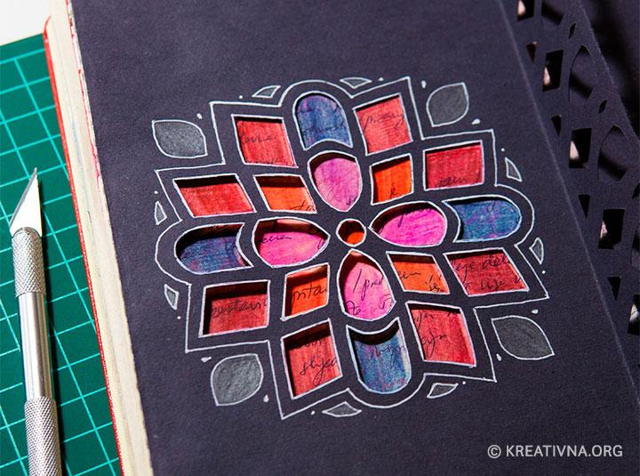 Mandala rozeta od izrezanog papira