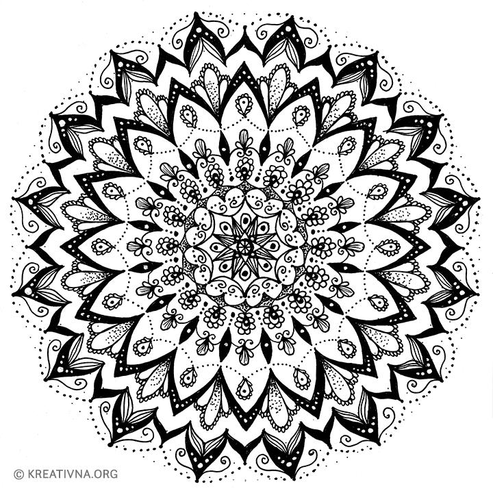 Radionica crtanja mandala: gotovi crtež