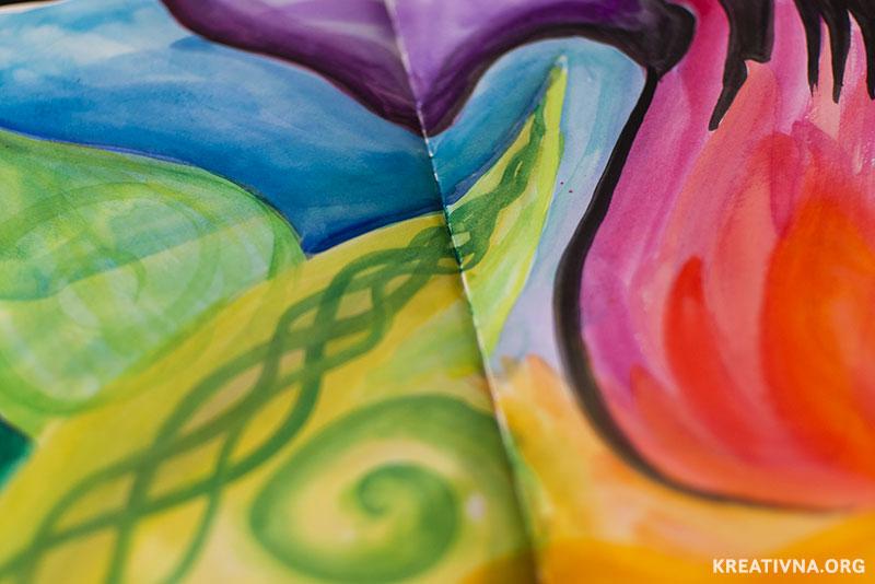Sketchbook apstraktni intuitivni akvarel