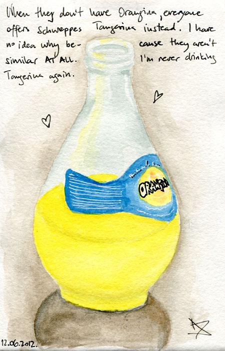 Crtež bočice Orangine – Nela Dunato