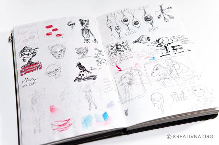 Skiciranje ideja u vizualni dnevnik