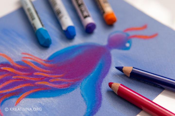 Suhi pastel i pastel u olovci