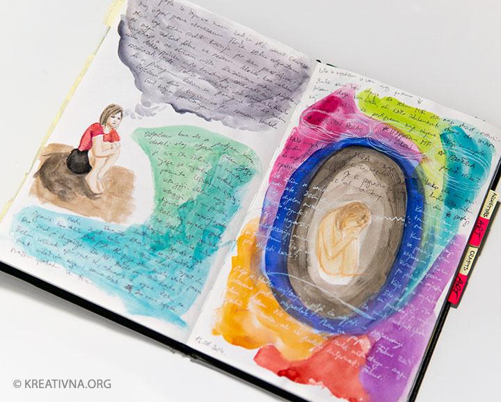 Vizualni dnevnik za art terapiju – Nela Dunato