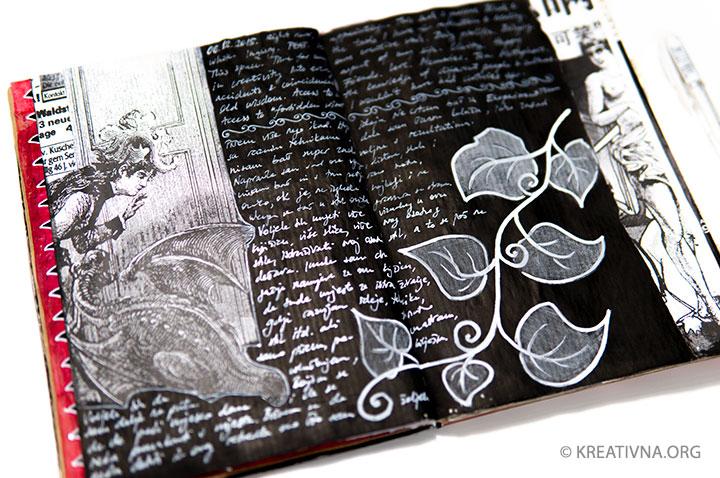 Vizualni dnevnik: pisanje po crnoj podlozi – Nela Dunato